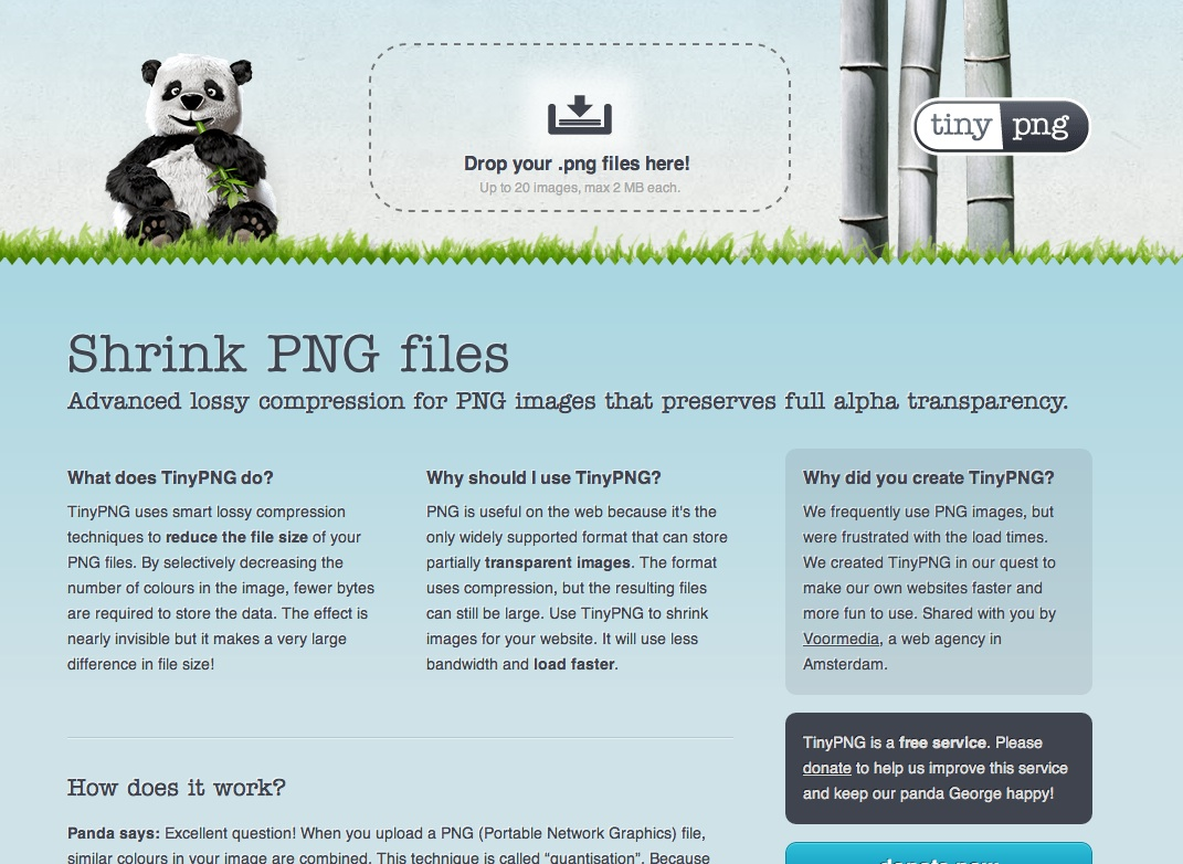 PNG画像をあまり劣化させずに軽量化してくれるWebサービス「TinyPNG」