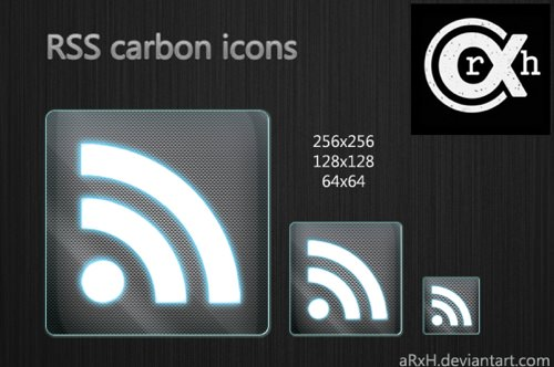 RSS carbon icons