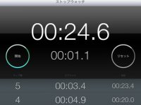 iPad mini(iOS)標準アプリ「時計」のストップウォッチ機能が何気に使いやすい件!