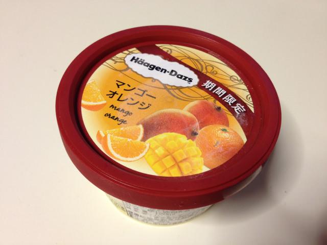 トロピカルリッチなハーゲンダッツ「マンゴーオレンジ」を食べてみました!
