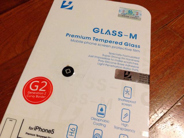 iPhone5s / 5c / 5 用強化ガラス「GLASS-M」を購入してみました